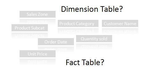 Dimensional Tables and Fact Tables | Datamartist.com
